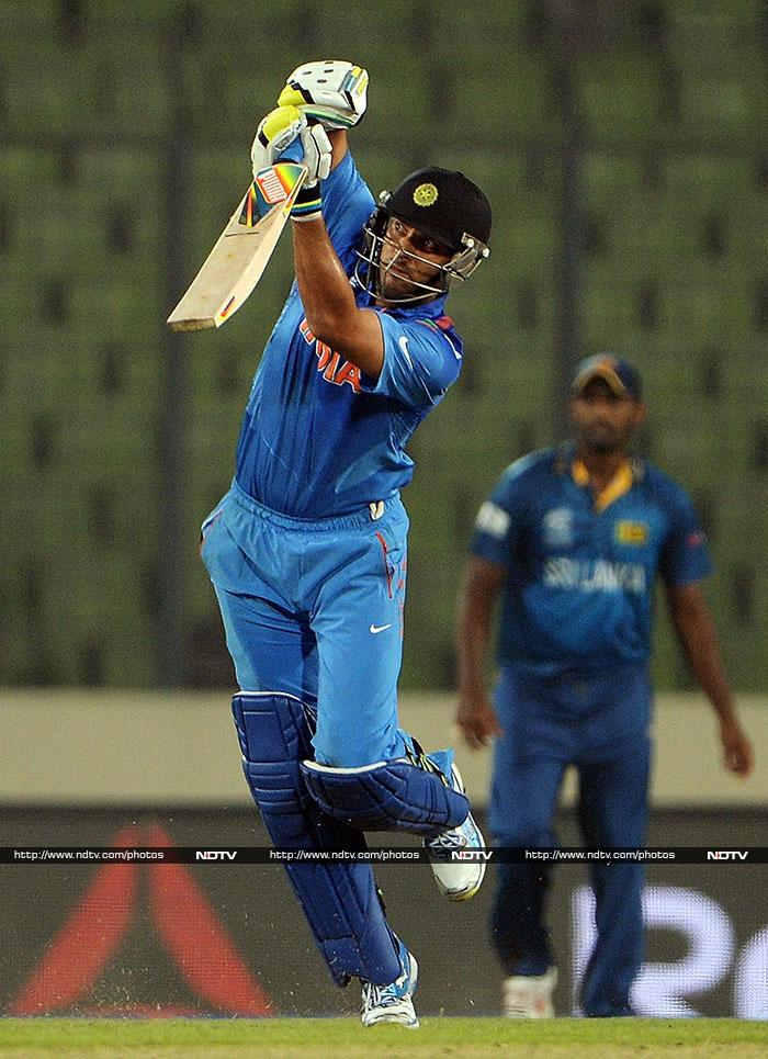 Yuvraj Singh also looked in fine touch. Making his way back into the team, he hit 33 off 28.