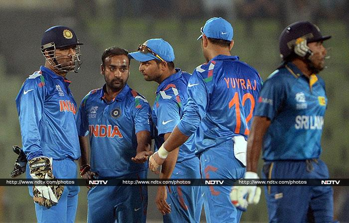Amit Mishra's spin was also effective as India managed to halt Sri Lanka on 153.
