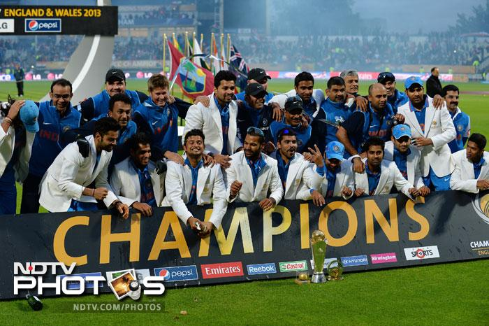 A rain-reduced 20-overs a side contest was eventually won by India in a thrilling contest. The visitors defeated England by 5 runs to win the Champions Trophy title.