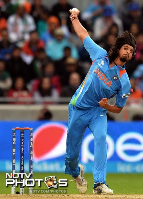Ishant Sharma struck twice in the 18th over of the innings when he removed both danger men to bring India back in the game.