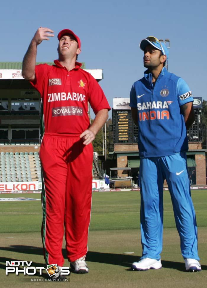 Zimbabwe won the toss and opted to field in conditions that favoured seam bowling. <br><br>The decision was fruitful as Rohit Sharma (unseen) was dismissed in the second over itself.