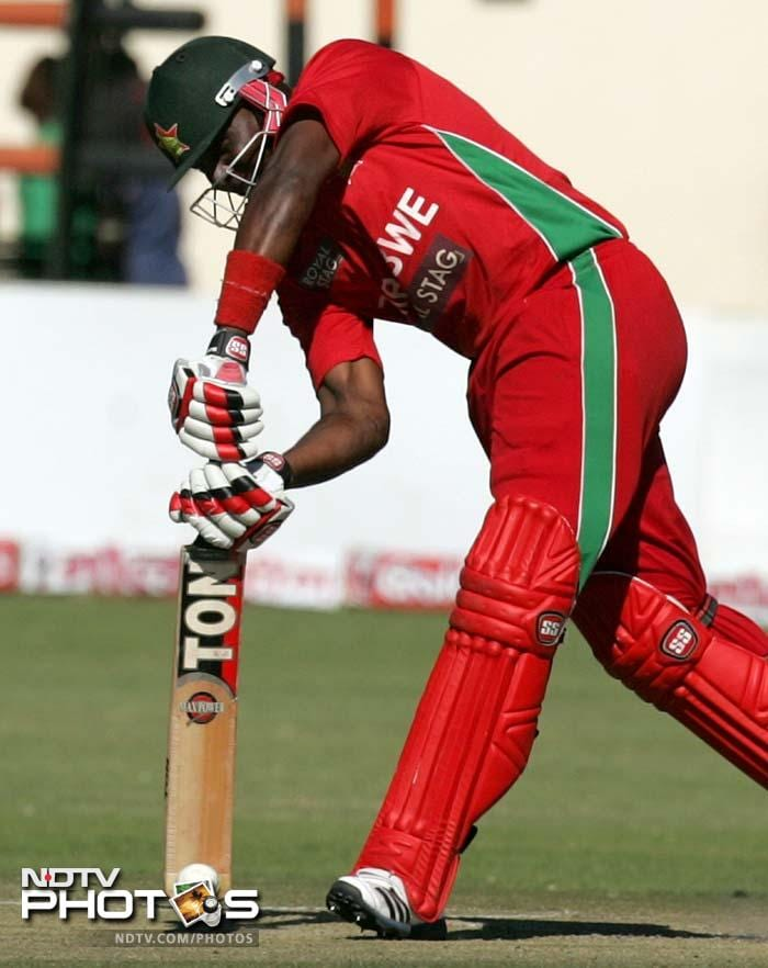 Hamilton Masakadza managed to plug the fall of wickets with a gritty 34 but it was not enough to stop India from cruising to a win.