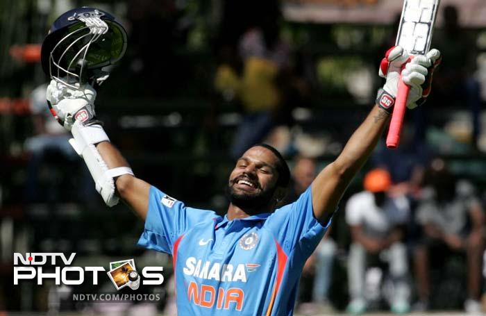 Dhawan slammed 116 off 127 deliveries - his third ODI ton - to seize the initiative back.