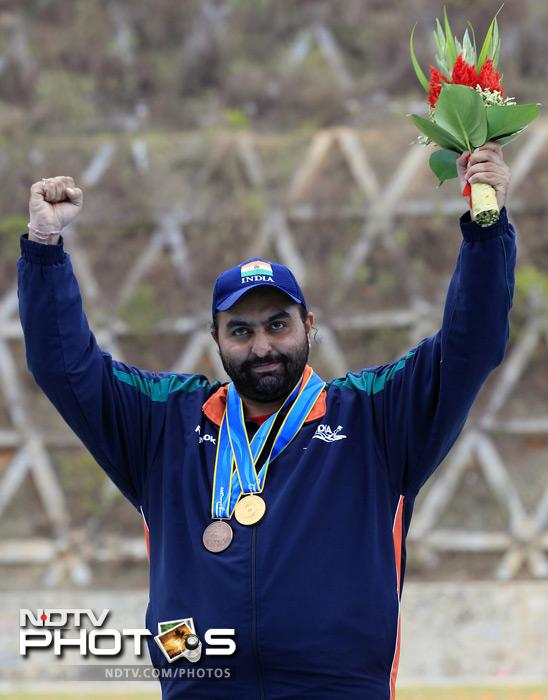 <b>Honour in the crosshair:</b> Asian Games gold medalist Ronjan Sodhi showed why he is not just the best in India and Asia alone. The Champion double-trap shooter took top honours in the International Shooting Sport Federation (ISSF) world rankings in August.