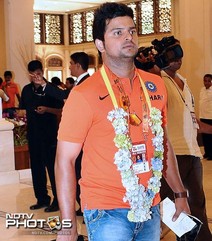 Suresh Raina gets the traditional welcome on his arrival. He is seen by many as a T20 specialist. Skipper MS Dhoni has already said he is banking on part-timers to come good which means this player can be seen bowling a few overs as well.