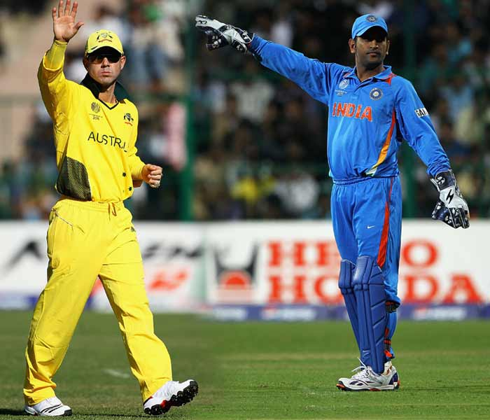 India have won just two of their nine matches against Australia in World Cups. Times however, have changed and so have the players and their forms as the two teams get set to lock horns again on Thursday. Reflecting on the previous encounters though, may still provide a point of reference to this understated rivalry in international cricket.(Getty Images and AFP)