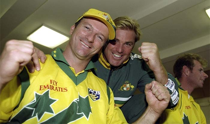 <b>4th June, 1999:</b> Azharuddin's men took on Steve Waugh's Australia in the Super Six round. Though the toss favoured India and they chose to field, Australia finished on the winners podium by 77 runs. (Getty Images)