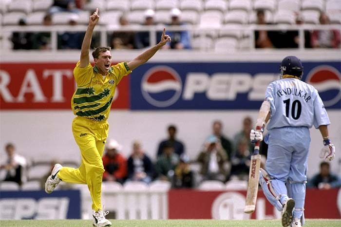 Though Mark Waugh's knock of 83 runs helped his side set a challenging total of 282 runs, it was Glen McGrath who broke India's batting to finish with 3 wickets and wrap the innings on 205. (Getty Images)
