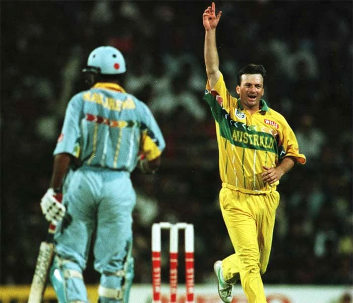 <b>27th February, 1996:</b> Wankhede hosted the league match between India and Australia. Despite home advantage, India could not register a win as Australia took full points, courtesy a 16-run win. (Getty Images)