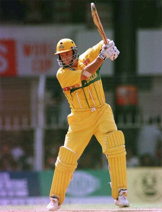 The Aussies batted first and Mark Waugh unleashed terror with his bat. His 126 helped Australia rake in 258 runs. Helped by Sachin Tendulkar's 90, India were steady in their reply but could not sustain the momentum. (Getty Images)