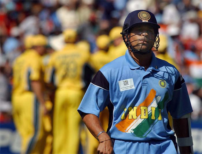 <b>15th February, 2003:</b> India faced off against Australia in the 2003 World Cup as well. Their first encounter was in the league stage and the eventual world champions thumped Sourav Ganguly's men by 9 wickets. (Getty Images)