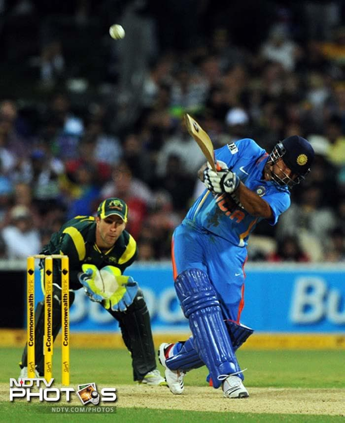 Once the trio left, the match became close. Suresh Raina (38 off 30) partnered his skipper MS Dhoni to rotate the strike.