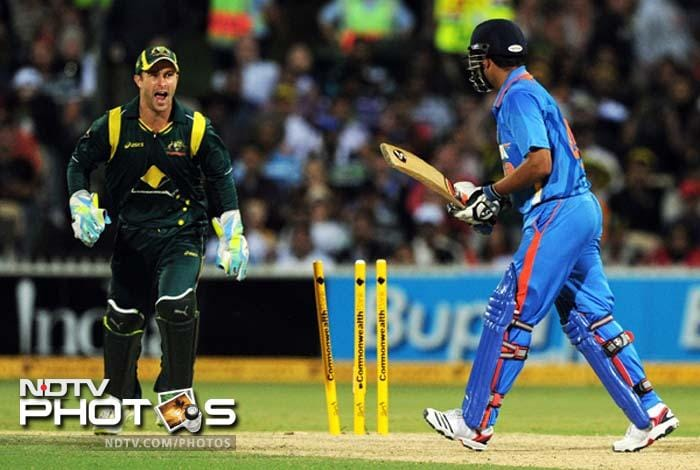 Raina was eventually bowled by Xavier Doherty (not in the image).