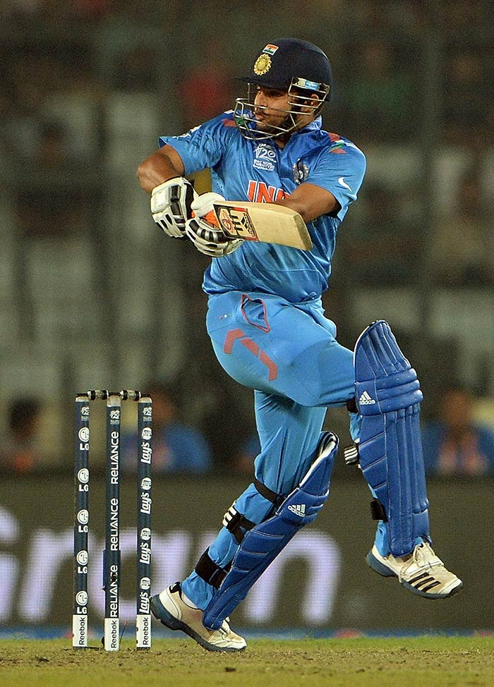 In-form Suresh Raina also chipped in with a valuable fifty.