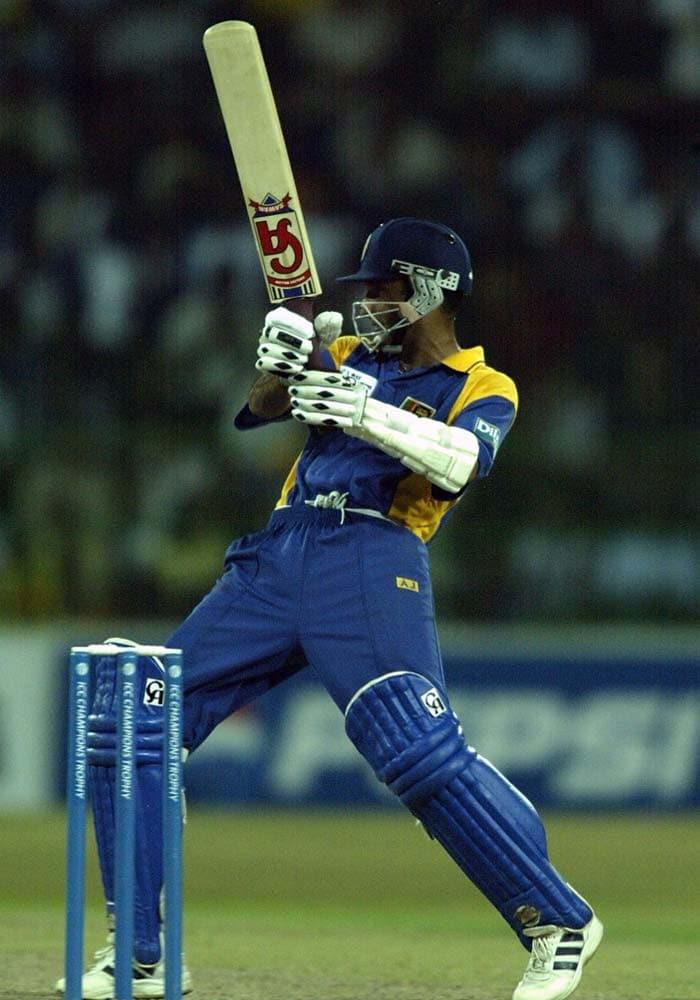 <b>August 17, 1997 (Colombo): </b>The hosts sneaked home by a margin of 2 runs after Marvan Atapattu (in pic) helped his side score 302 runs. Azharuddin and Ajay Jadeja led the fight back but their respective centuries could not help India complete the win. (Getty Images)