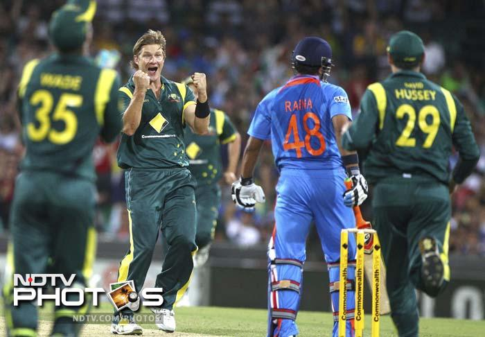 Watson did with the ball what he could not with the ball. He claimed two wickets as the Indians were ravaged without any mercy.