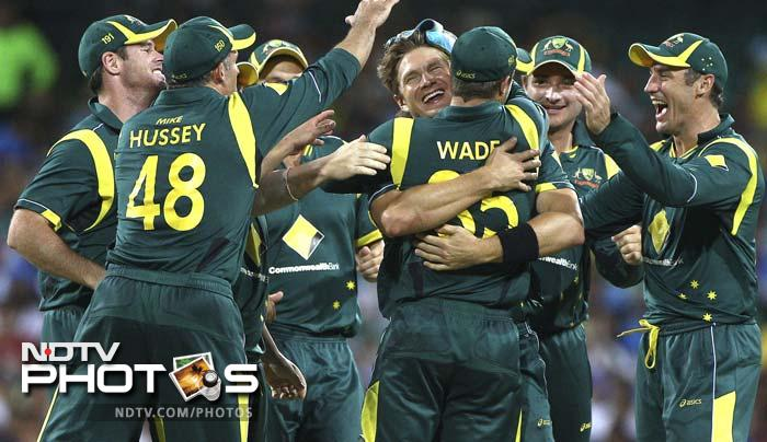 Hosts Australia fired on all cylinders to crush India by 87 runs in the 10th ODI at Sydney. A look at some of the highlights. (AP and AFP images)