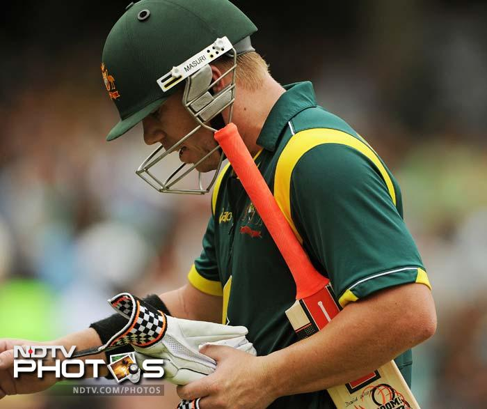 David Warner took command then and helped himself to a handsome 68 off 66 balls. He eventually fell to Ravindra Jadeja.