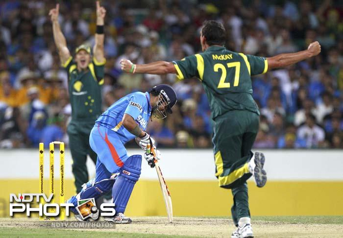 The batsmen fell like a pack of cards with Gambhir and Kohli making a quick return.