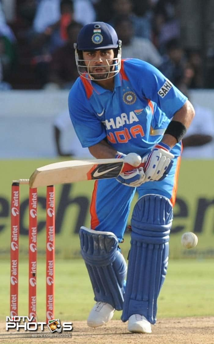 Virat Kohli powered the innings at the beginning. His innings of 37 off 63 balls came in the face of tight English bowling. He showed excellent maturity.
