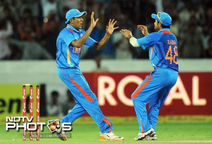 R Ashwin (L) was another player who played his part in the win.