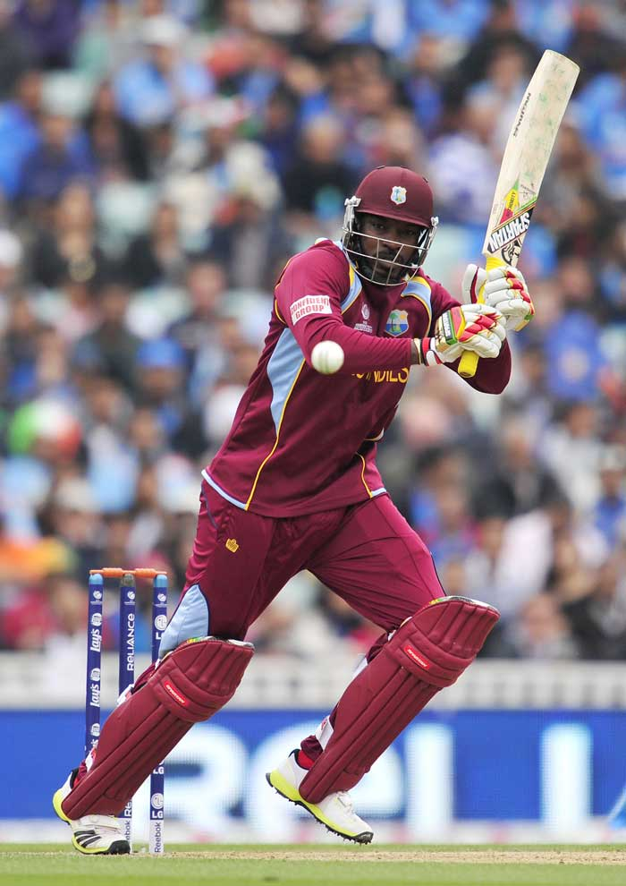 Chris Gayle started his innings in ominous fashion, scoring 21 off 17 balls with 4 boundaries. However, he edged a Bhuvneshwar Kumar delivery to R Ashwin at first slip.