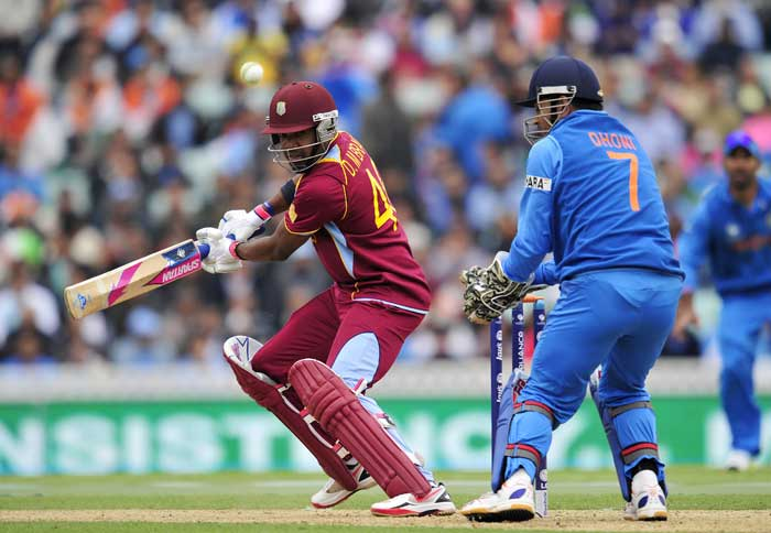 Darren Bravo played an extremely sedate knock of 35 in 83 deliveries, before perishing to R Ashwin.