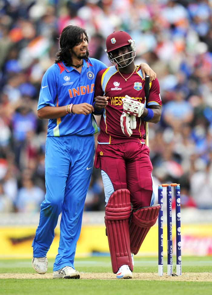 Ishant Sharma was excellent with the ball conceding just 22 runs in his first 9 overs. However Darren Sammy took him for 21 runs in his final over, spoiling Sharma's figures.