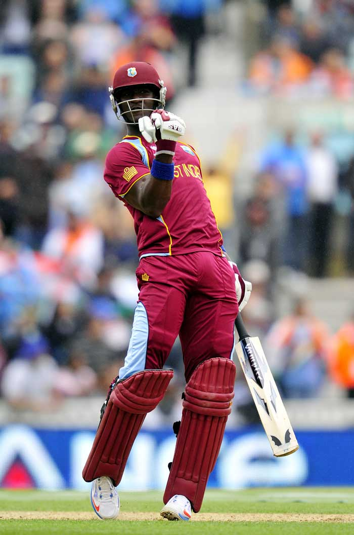 Darren Sammy was left out the opening game against Pakistan. He all but cemented his place to a side with a 35-ball 56 to take West Indies to a respectable 233/9.