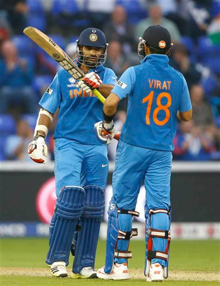 Virat Kohli has not fired on all cylinders in this tournament so far, but scored a half-century against Sri lanka to take India home with 15 overs to spare. It was his eight half-century to go with his five hundreds against the Lankans.