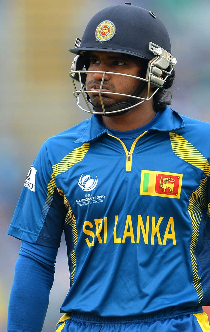 Opener Kusal Perera bears a striking resemblance to Sanath Jayasuriya but his performances do not match up to the Sri Lankan legend. He managed just 4 after Sri Lanka were put in to bat, before being dismissed by Bhuvneshwar Kumar.