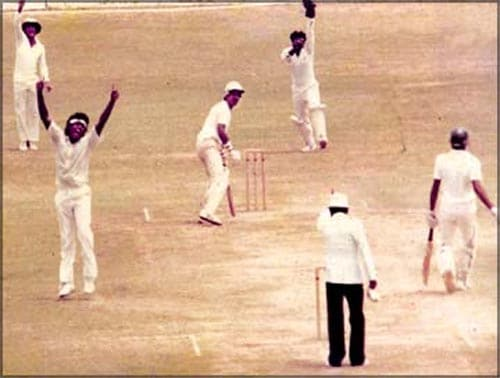 India went on a tour of Sri Lanka where they played an official Test match for the first time in 1985. A tour on which many would have thought that the established batting line-up of India would get the better of the Lankan bowlers was in for a real shocker.<br><br> In the second Test match, Lankan medium pacer Rumesh Ratnayake ripped apart the Indian batting and ended the match with 9 wickets to lead Sri Lanka to their maiden Test match victory.<br><br> The Indians lost the match by 149 runs and along with that a great chunk of self esteem too. Although they mounted a great fightback in the last Test match, but centuries by Duleep Mendis and Roy Dias ensured a draw for Lanka and their maiden series win.