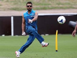 Photo : World Cup: Indian Cricketers Show Off 'Footy Skills' Down Under