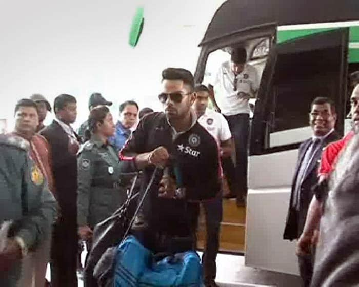 The Indian cricket team arrived in Dhaka on Sunday (February 23) in search for its sixth Asia Cup title. Under stand-in skipper Virat Kohli, the young side looked determined to rise from its recent debacles abroad.