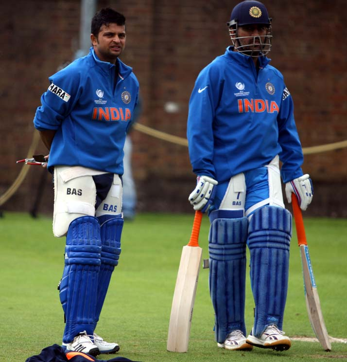 Both Suresh Raina and skipper Mahendra Singh haven't had much with the bat in the tournament so far, thanks to rock solid top order. However, they remain well prepared for the time to come.