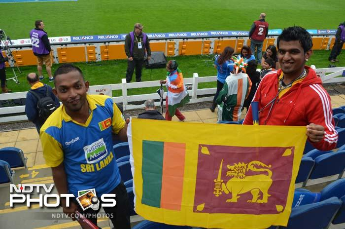 In between many Indian supporters, there were few Sri Lankan fans as well.