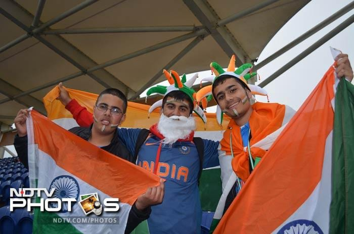 Some of the Indian supporters even posed as Santa Claus. The chilly conditions on Thursday, were quite similar to the winter season in North India, reminding the supporters of weather during Christmas time.