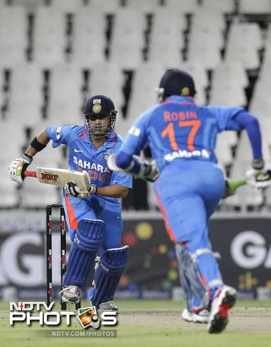 Gautam Gambhir looked in good touch once the chase began as he was unbeaten on 49 off 28 balls with 7 fours and 1 six.