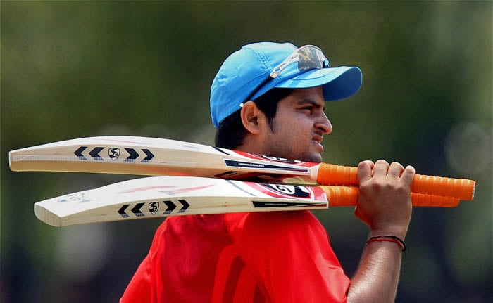 Indian cricketer Suresh Raina during a practice session at the IIT Ground in Chennai on Wednesday. (PTI Photo)