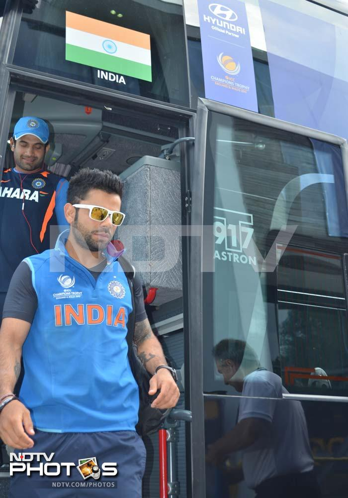 Ahead of their semi-final clash against Sri Lanka, Team India undergo a training session to get themselves in shape for the key game.