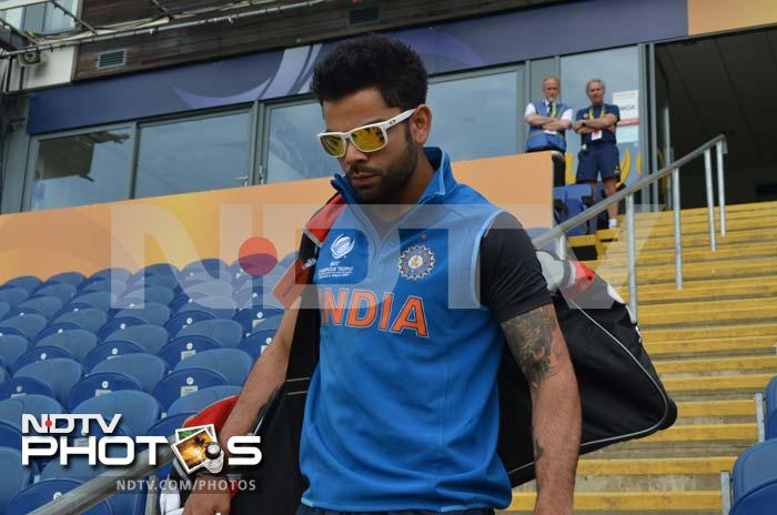 A look of determination is written on Virat Kohli's face as he looks to get into the groove before the match against Sri Lanka.