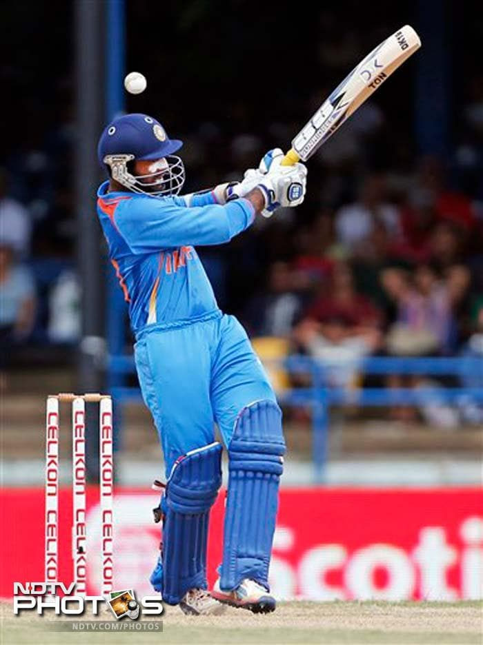 Dinesh Karthik was a bit unlucky as he was given out caught behind. Replays showed there was no edge.