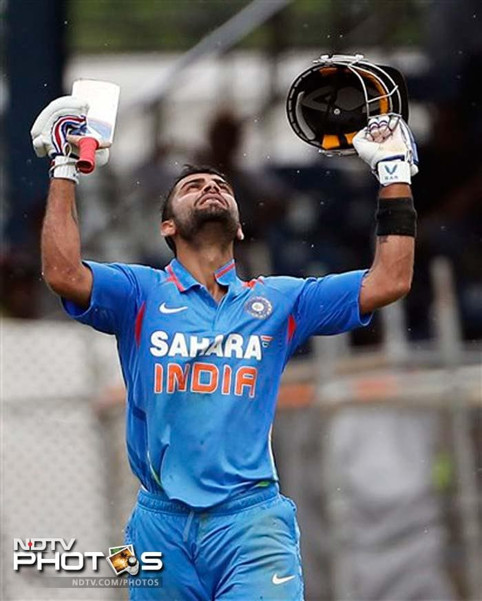 Virat Kohli stayed till the end of innings to guide India to a massive total. Kohli was out on the last ball after scoring 102.