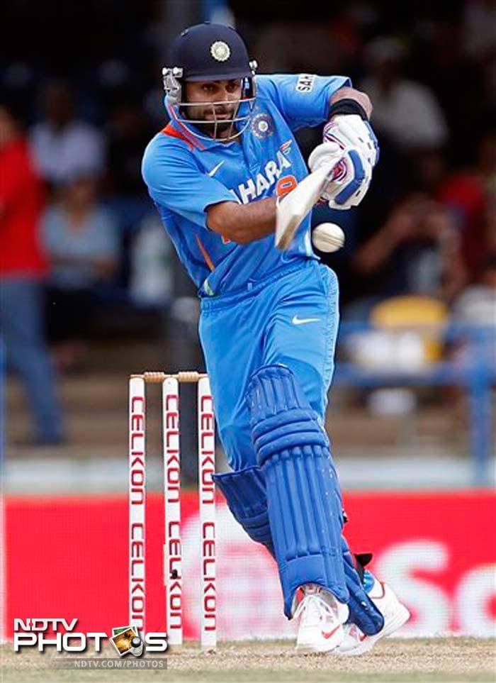 Virat Kohli led from the front to notch up his 14th century.