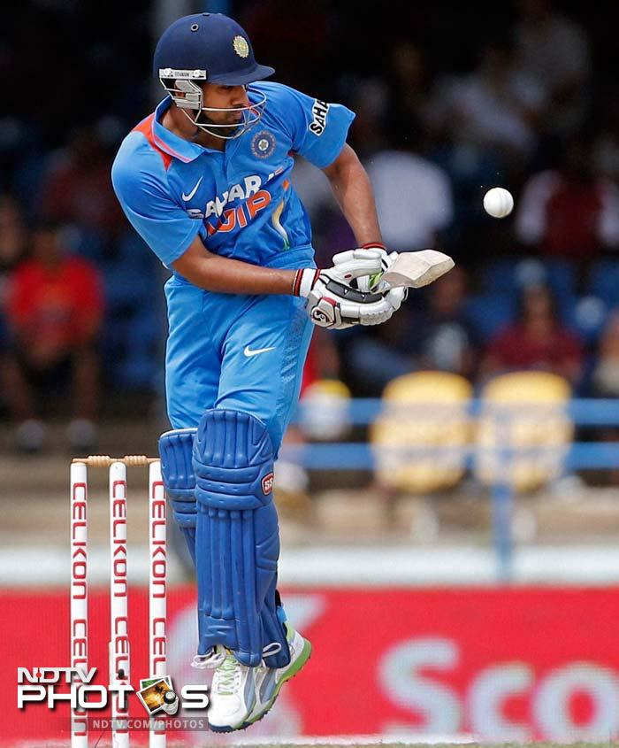 Rohit Sharma too enjoyed his batting and stitched 123-run opening stand with Shikhar Dhawan. He fell 4 runs short of his fifty.