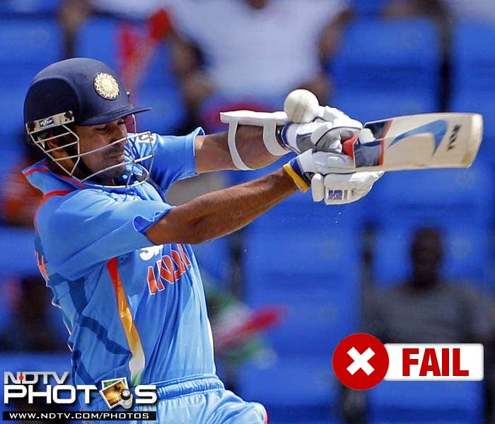 <b>Subramaniam Badrinath</b><br><br> Badrinath had high hopes attached to his position in the middle order especially after the 43-run innings in the only T-20 against the West Indies. But he never really got going as he ended with just 40 runs in the series.