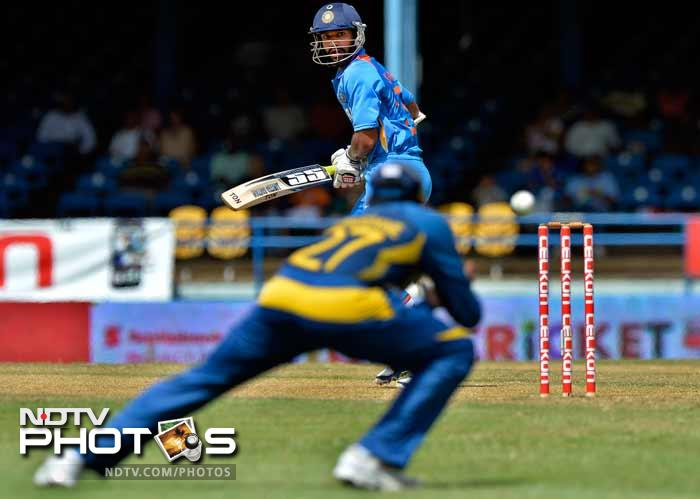 After being put into bat India got off the the worst possible start, losing man-in-form Shikhar Dhawan to Angelo Mathews for just 15.