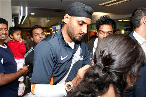 Harbhajan Singh arrives at Christchurch airport on Friday, February 20, 2009 India. will play three Test matches, five one-day internationals and two twenty20 matches during the cricket tour of New Zealand. (AP Photo)