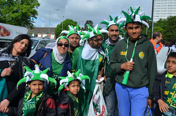 The Pakistan supporters are equal to the task and dont hold back from voicing their support for the national team.