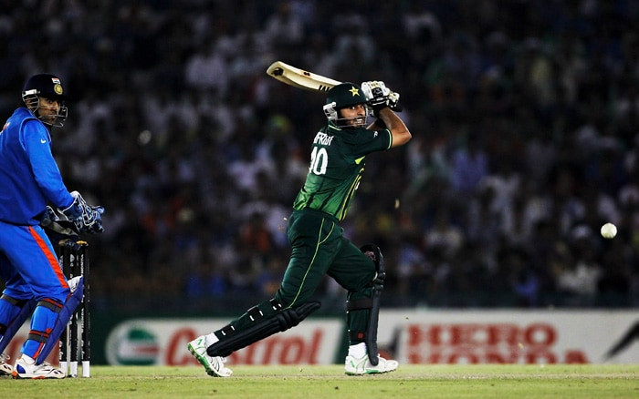 Shahid Afridi came in for Pakistan with immense pressure on him. A captain's knock was what Pakistan needed at that moment. (AFP Photo)